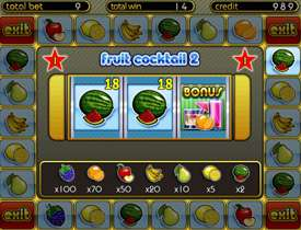 Бонус игра в Fruit Cocktail 2